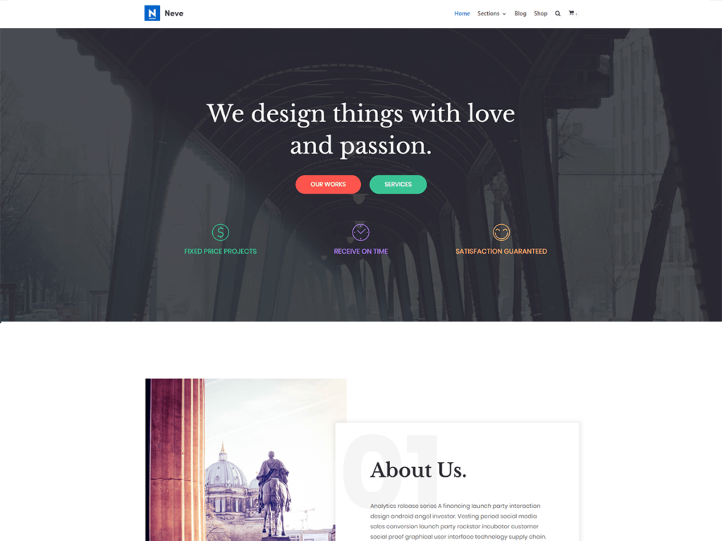 free WordPress business themes neve