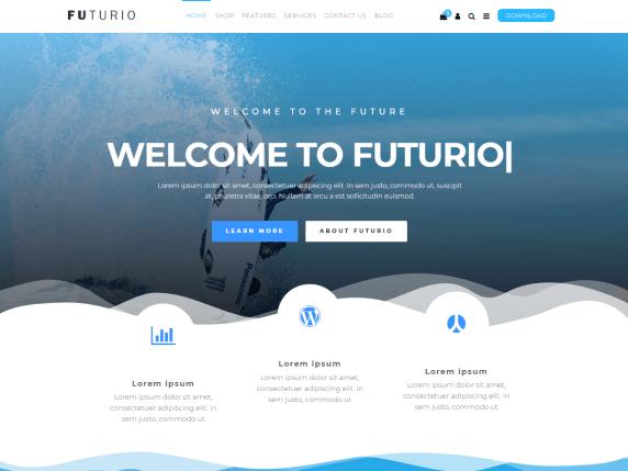 Best Corporate WordPress Themes Futurio