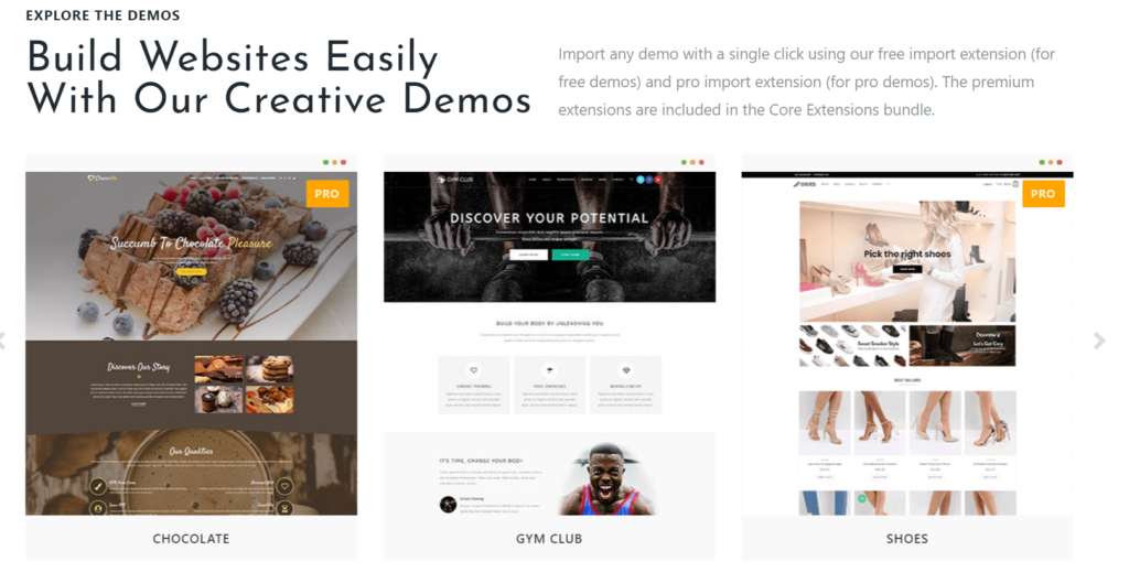 free WordPRess theme oceanwp  demo import
