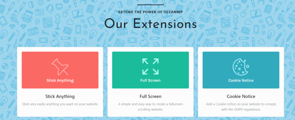 oceanwp free wordpress theme extensions
