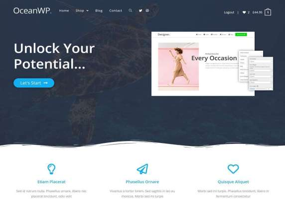 free wordpress theme oceanwp