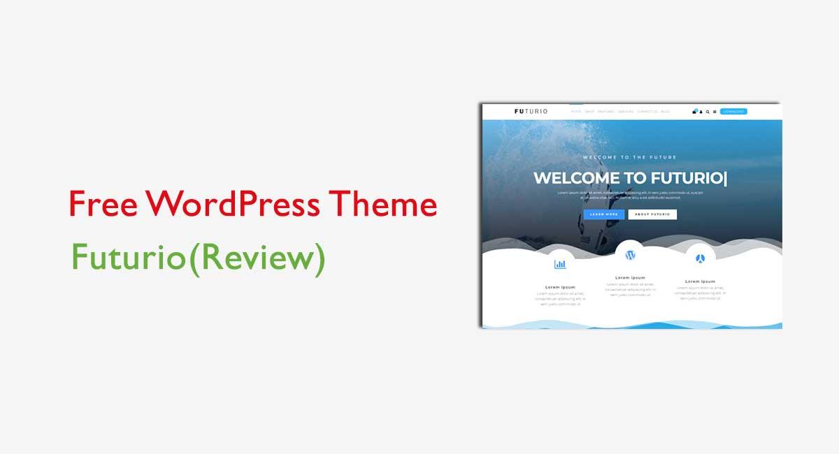 Futurio free WordPress theme