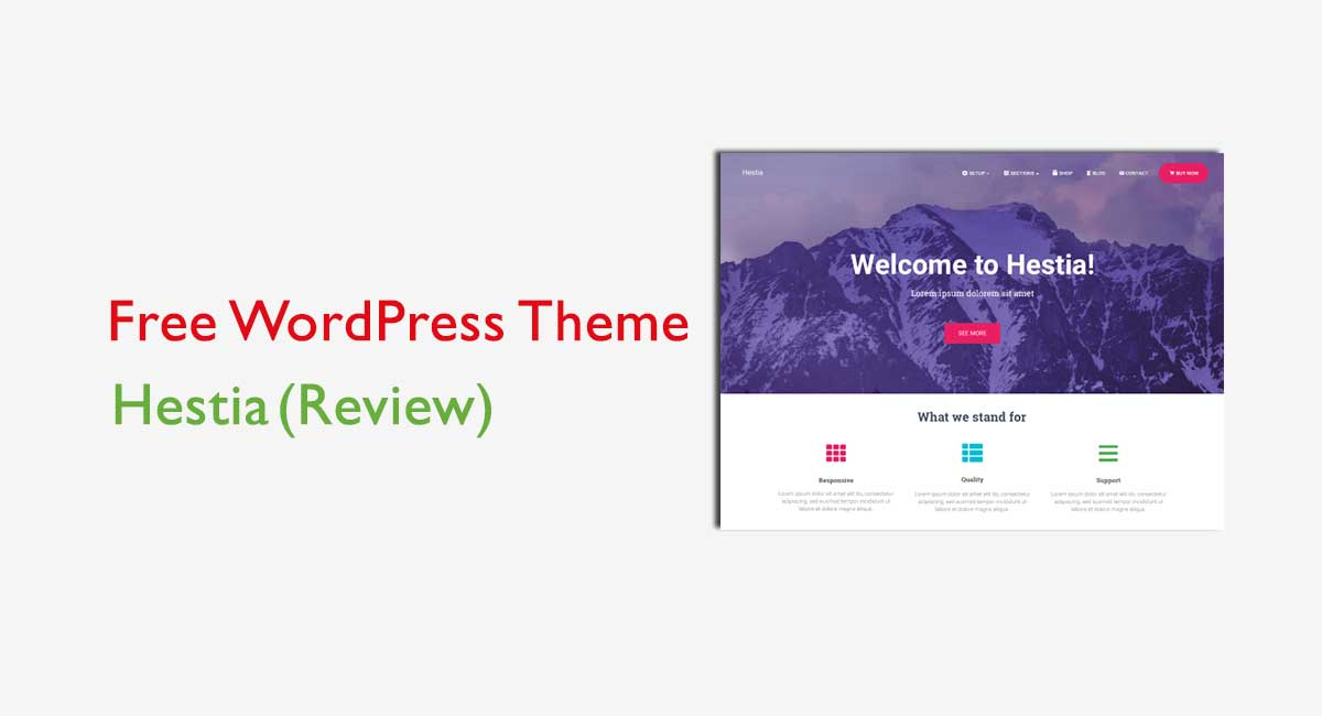 Hestia Free Corporate WordPress Theme Review – A Professional WordPress Theme