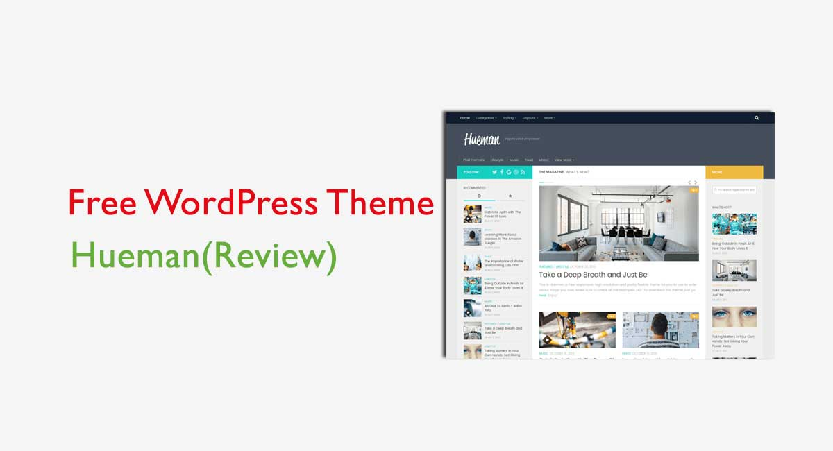 How to create a responsive website with a free Hueman WordPress theme?