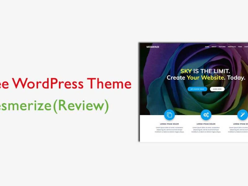 Mesmerize Review Best Free Business Theme