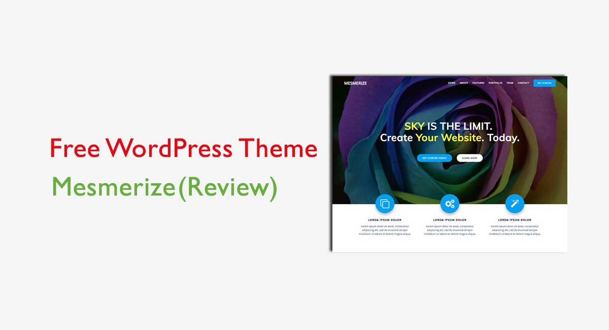 Mesmerize Review – Best Free Business Theme to create a Mesmerized Website