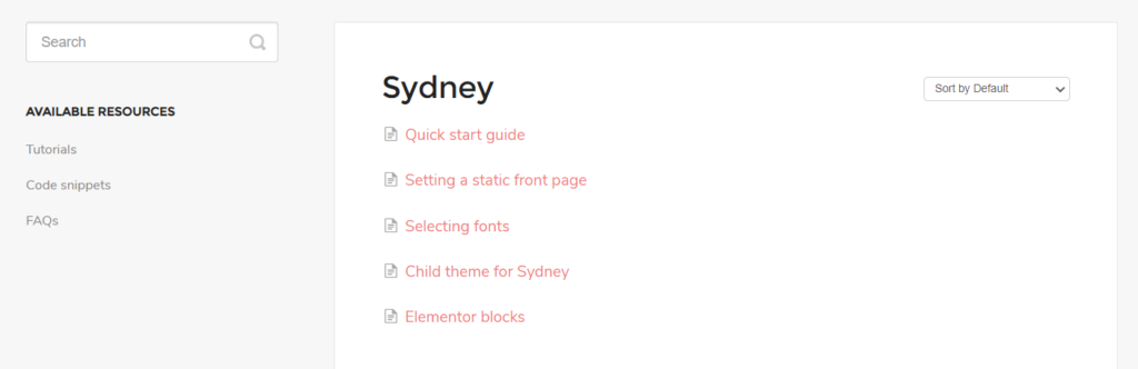 Sydney Documentation